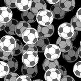 Teste padrão sem emenda da bola 3d do futebol Ostenta o ornamento acessório Fotos de Stock Royalty Free