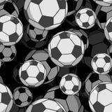 Teste padrão sem emenda da bola 3d do futebol Ostenta o ornamento acessório Assim Fotos de Stock