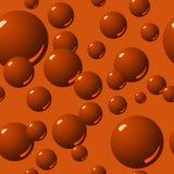 Teste padrão sem emenda da bolha do chocolate Fotos de Stock