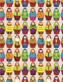 Teste padrão sem emenda da boneca do russo Fotografia de Stock Royalty Free