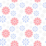 Teste padrão sem emenda da centáurea da flor do vetor Fotos de Stock