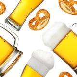 Teste padrão sem emenda da cerveja Imagens de Stock Royalty Free