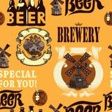 Teste padrão sem emenda da cerveja Foto de Stock