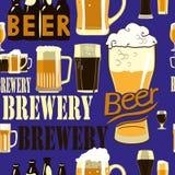 Teste padrão sem emenda da cerveja Fotos de Stock Royalty Free