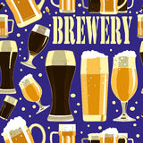 Teste padrão sem emenda da cervejaria Fotografia de Stock Royalty Free