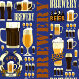 Teste padrão sem emenda da cervejaria Fotos de Stock Royalty Free