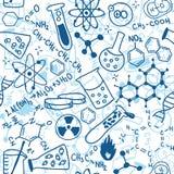 Teste padrão sem emenda da ciência ilustração do vetor