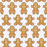 Teste padrão sem emenda da cookie do gengibre do vetor Fotos de Stock Royalty Free