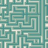 Teste padrão sem emenda da cor abstrata que assemelha-se a um labirinto Fotos de Stock Royalty Free