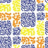 Teste padrão sem emenda da cor da telha do círculo no branco Fotos de Stock