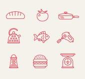 Teste padrão sem emenda da cozinha Imagens de Stock Royalty Free