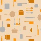 Teste padrão sem emenda da cozinha ilustração do vetor