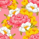 Teste padrão sem emenda da elegância abstrata com elementos florais ilustração do vetor