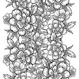 Teste padrão sem emenda da elegância abstrata com elementos florais ilustração royalty free