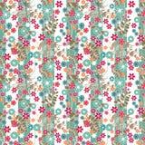 Teste padrão sem emenda da elegância abstrata com fundo pequeno das flores Imagem de Stock