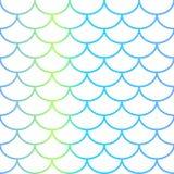 Teste padrão sem emenda da escala de peixes no fundo branco Fotografia de Stock Royalty Free