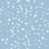 Teste padrão sem emenda da escova da neve do inverno Fotos de Stock Royalty Free