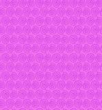 Teste padrão sem emenda da espiral cor-de-rosa do contorno. L decorativo ilustração royalty free