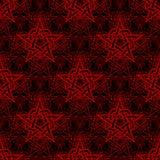 Teste padrão sem emenda da estrela abstrata Vetor Imagem de Stock