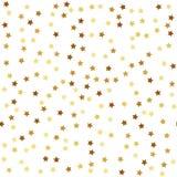 Teste padrão sem emenda da estrela do ouro Fotos de Stock