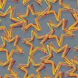Teste padrão sem emenda da estrela Textura abstrata da estrela 3d Imagem de Stock Royalty Free