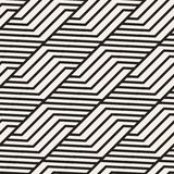 Teste padrão sem emenda da estrutura do vetor Textura à moda moderna com treliça monocromática Repetindo a grade geométrica Proje ilustração stock