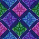 Teste padrão sem emenda da estrutura floral do vetor Imagem de Stock Royalty Free
