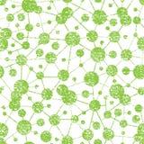 Teste padrão sem emenda da estrutura molecular do Grunge Fotografia de Stock Royalty Free