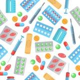 Teste padrão sem emenda da farmácia ilustração royalty free