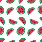 Teste padrão sem emenda da fatia da melancia Foto de Stock