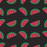 Teste padrão sem emenda da fatia da melancia Imagem de Stock