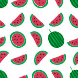 Teste padrão sem emenda da fatia da melancia Fotografia de Stock