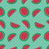 Teste padrão sem emenda da fatia da melancia Foto de Stock Royalty Free