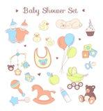 Teste padrão sem emenda da festa do bebê Textura para o bebê e o bebê Fotos de Stock Royalty Free