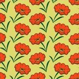 Teste padrão sem emenda da flor ilustração do vetor