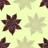 Teste padrão sem emenda da flor abstrata Ilustração Royalty Free
