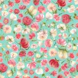 Teste padrão sem emenda da flor da aquarela, borrão floral imagens de stock
