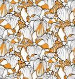 Teste padrão sem emenda da flor com íris Imagem de Stock Royalty Free