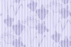 Teste padrão sem emenda da flor com íris Fotografia de Stock Royalty Free