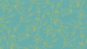 Teste padrão sem emenda da flor com campainhas Imagem de Stock Royalty Free