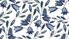 Teste padrão sem emenda da flor com campainhas Foto de Stock Royalty Free