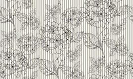 Teste padrão sem emenda da flor com hortênsias Imagens de Stock Royalty Free