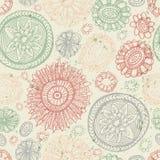 Teste padrão sem emenda da flor das garatujas Imagem de Stock Royalty Free