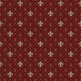 Teste padrão sem emenda da flor de lis Foto de Stock Royalty Free