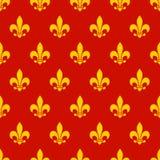 Teste padrão sem emenda da flor de lis Imagem de Stock Royalty Free