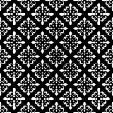 Teste padrão sem emenda da flor de lis Ilustração do vetor Molde branco preto Textura floral Decoração elegante, CCB retro do lír Fotografia de Stock