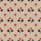 Teste padrão sem emenda da flor delicada com as ervas medicinais desenhados à mão ilustração royalty free