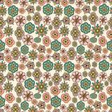 Teste padrão sem emenda da flor feito a mão Foto de Stock Royalty Free