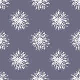 Teste padrão sem emenda da flor rústica do vetor Imagem de Stock Royalty Free