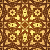 Teste padrão sem emenda da flor transversal geométrica do vetor Imagens de Stock